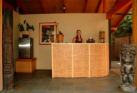 Reception Desk at Hawaiian Spa, Kona, HI